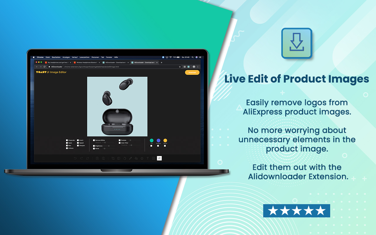 AliDownloader - AliExpress product images edit